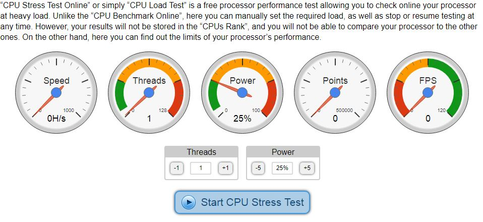 CPUX CPU STRESS TEST