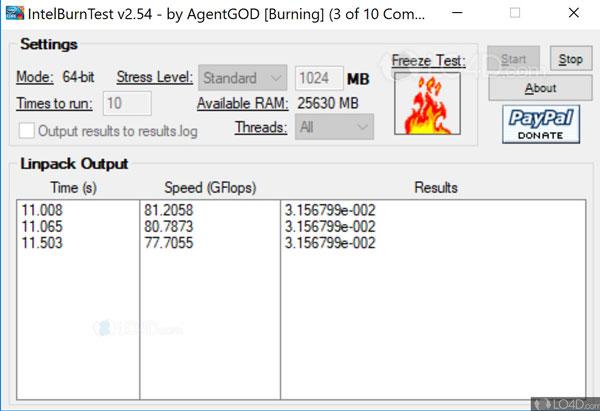 Intel Burn Cpu Test