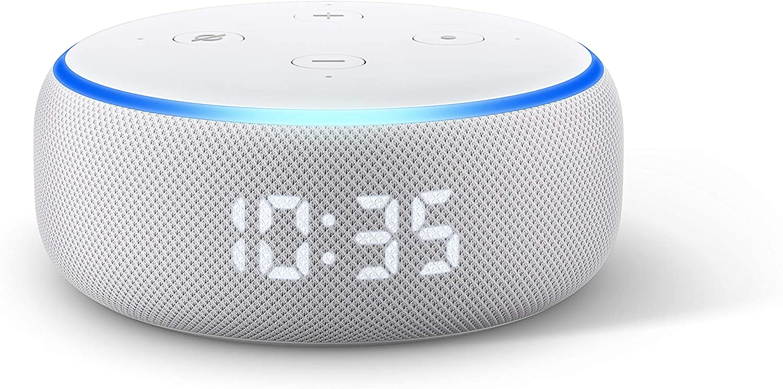 1 Alexa Smart Speaker Echo Dot 3rd Gen With Clock