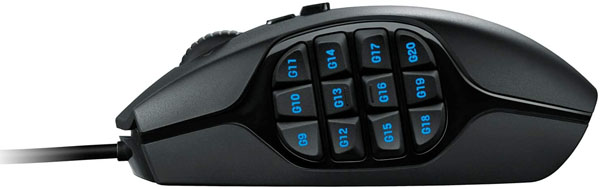Logitech G600 MMO Game Mouse Review Buttons