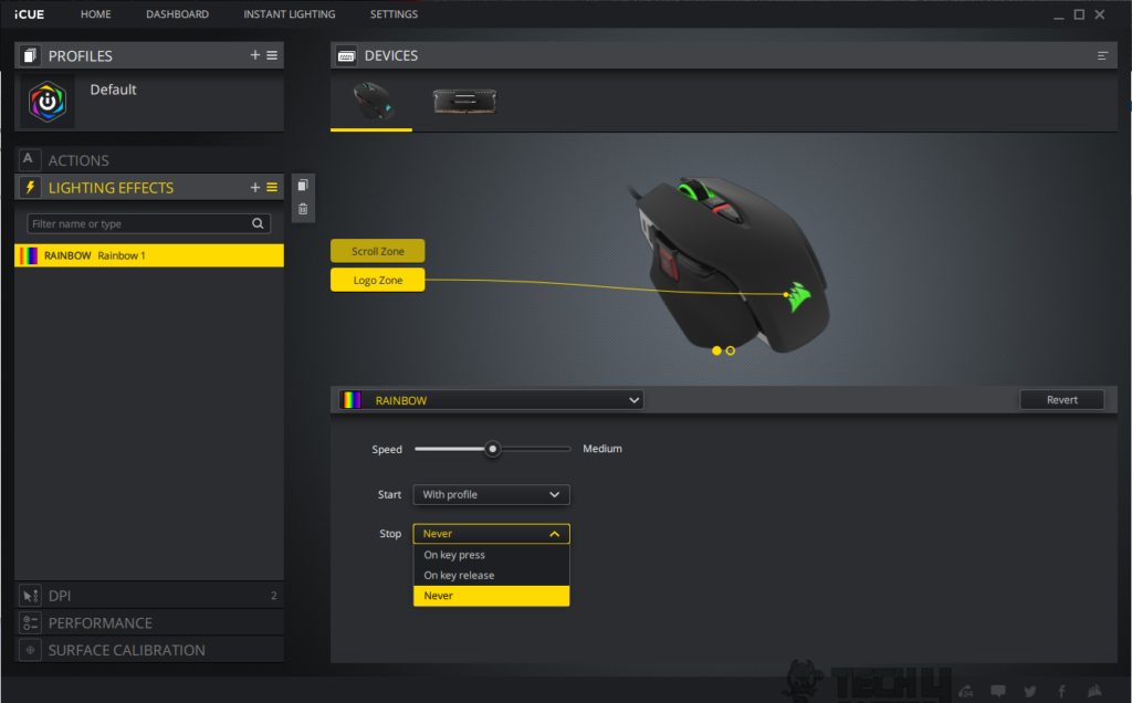 how to change colors of corsair gaming mouse