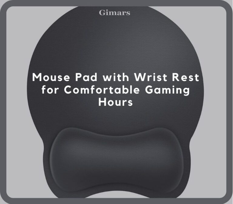 Mouse Pad With Wrist Rest For Comfortable Gaming Hours
