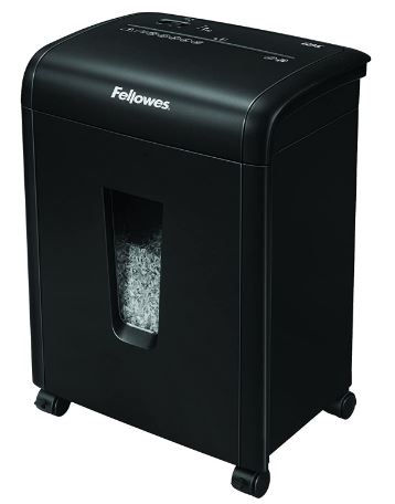 Fellowes 62MC 10-Sheet Micro-Cut Home and Office Paper Shredder with Safety Lock for Added Protection (4685101),Black