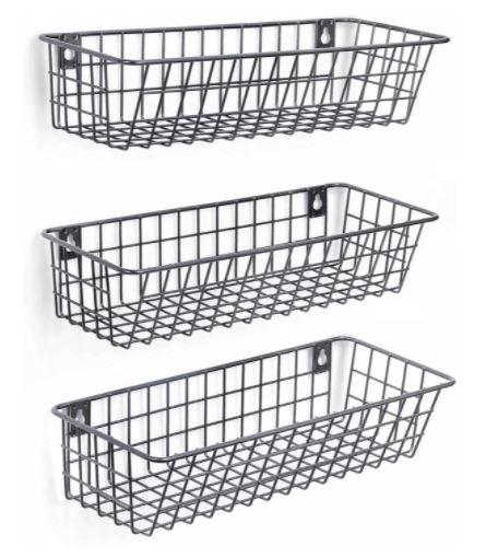 3 Set Hanging Wall Basket For Storage