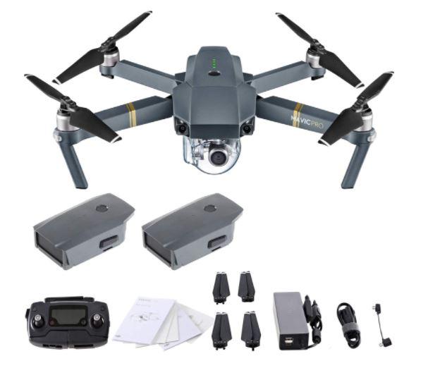 DJI Mavic Pro 4K Quadcopter With Remote Controller