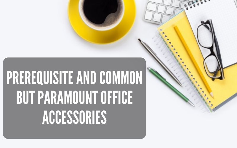 Prerequisite And Common But Paramount Office Accessories