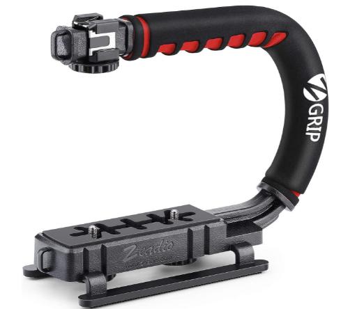 Zeadio Video Action Stabilizing Handle Grip Handheld Stabilizer